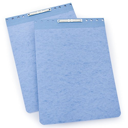ACCO PRESSTEX Report Covers, Top Bound, 2.75 Inch Centers, Light Blue, 8.5 x 11 Inches , 2 Per Pack (A7022272A)