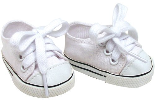 White Canvas Doll Sneakers