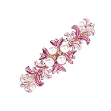 Barettes And Hair Clips for Women Pink Butterfly Hairclip Barettes for Hair