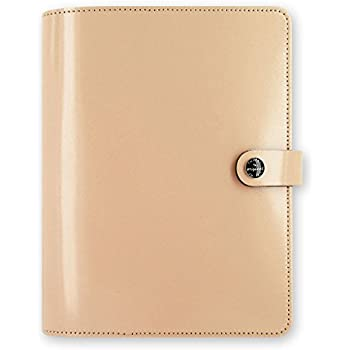 Filofax The Original Patent Nude A5 Size Leather Organizer Agenda Ring Binder Diary Notebook Planner 2017 Calendar with DiLoro Jot Pad Refills 022387