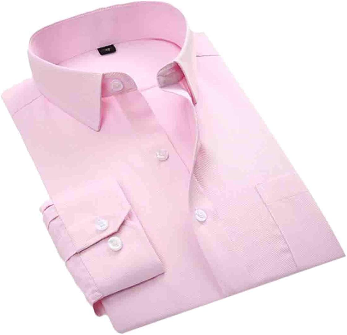 S-Fly Mens Solid Casual Non-Iron Long-Sleeve Business Button Down Cotton Dress Shirts