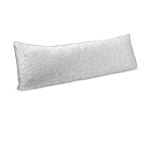 Nestl Gel Infused Memory Foam Pillow, Cooling Shredded Foam Pillow Hypoallergenic Bamboo Pillow with Adjustable Gel Fiber, Washable Cover from Bamboo Derived Rayon, CertiPUR-US Approved, Body 20x54
