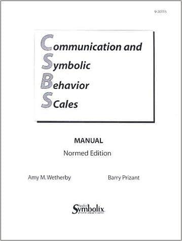 Csbs Manual Communication And Symbolic Behavior Scales Manual Amy