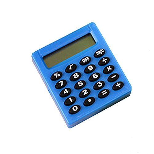 Lsgepavilion Portable Pocket 8 Digits Electronic Calculator Mini Student School Office Supplies – Blue