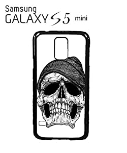 Skull with Beaine Retro Vintage Mobile Cell Phone Case Samsung Galaxy S5 Mini White