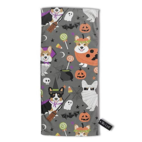 (Corgi Halloween Party - Cute Corgis Dressed Up for October 31st Hand Towel,Travel Towel,Bath Sheet, 30 X 70 cm - Multipurpose Towels for Bath, Hand, Face, Gym and)