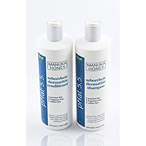 Sulfate Free Shampoo and Conditioner Set for Seborrheic Dermatitis Relief – Severe Dry & Itchy Scalp Treatment with…