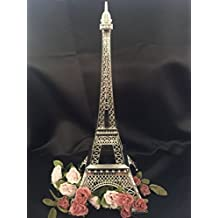 15 Inch (38cm) Silver Metal Eiffel Tower Statue Figurine Replica Centerpiece