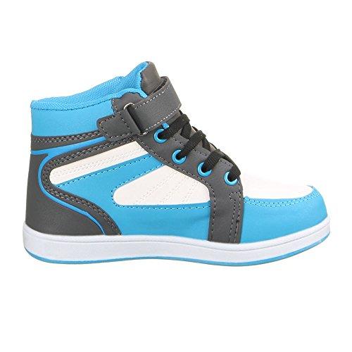 Ital-Design - Zapatillas de Material Sintético para mujer Azul - Blau Grau