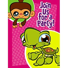 Littlest Pet Shop Invitations and Thank You Notes 16ct (8 Invitation + 8 Thank You -