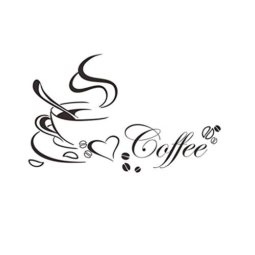 Clearance Sale!DEESEE(TM)Removable Coffee Cup Decals Vinyl Wall Sticker DIY Kitchen Home Decoration (B)