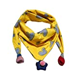 Child Scarves,WuyiMC Winter Scarf Fashion Baby Girls Neckerchief Head Neck Scarf (Yellow)