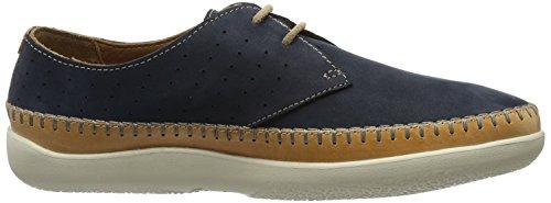 Clarks Veho Flow, Zapatos de Cordones Derby para Hombre Azul (Navy Nubuck)