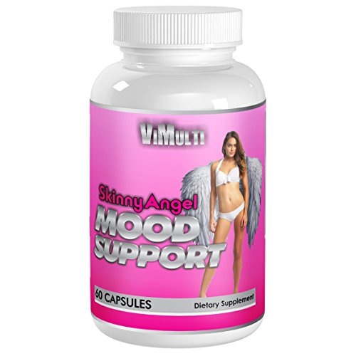 Skinny Angel Mood Supports Appetite Suppression-Mood-Sleep-Anxiety and Sleep. Anxiety Relief for Women with HTP 5, GABA, DMAE and B12 Vitamins. Natural Depression Pills for Women Keeps Mind Relaxed