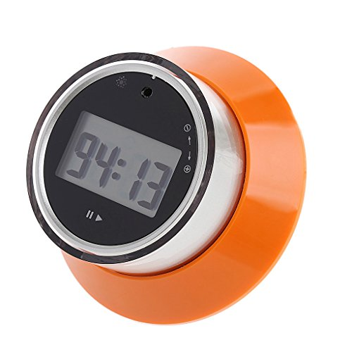 (YDZN LCD Digital Kitchen Timer, Portable Round Magnetic Countdown Alarm Clock ForKitchen Wall Home(Orange?)