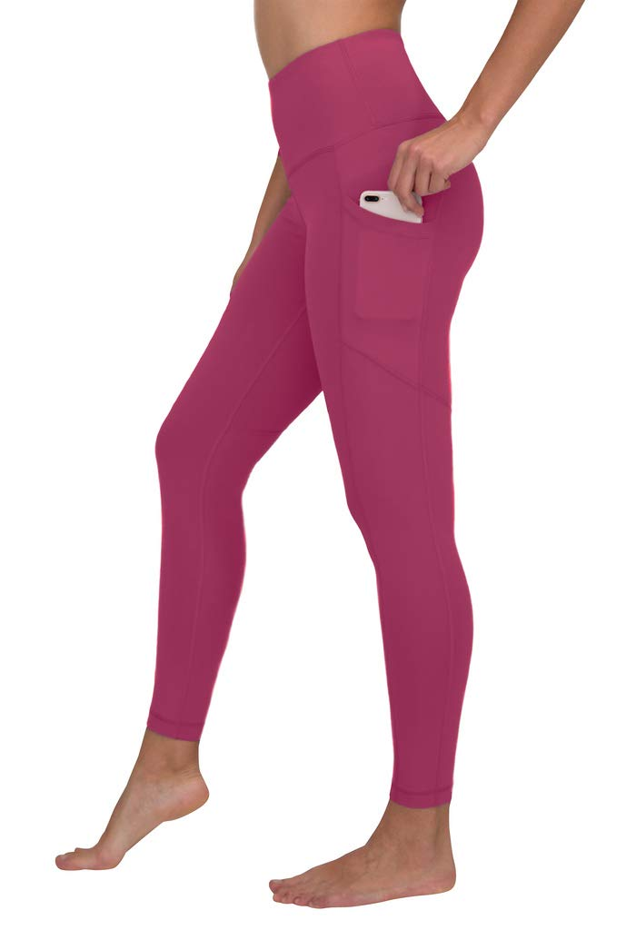 90 Degree By Reflex Women's Power Flex Yoga Pants - Pomberry - Small by 90 Degree By Reflex