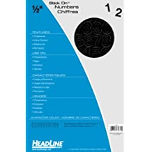 Headline Sign 31831 Stick-On Vinyl Numbers, Black, 1/2-Inch