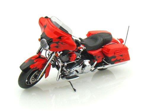 ダイキャストカー 2009 ハーレーダビッドソン FLHX Street Glide Hot Lava 1/12