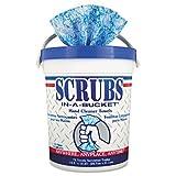 SCRUBS 42272CT Hand Cleaner Towels, 72 /Tub, 6 /CT,Blue