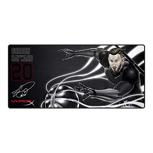 (HyperX Fury S - Gordon Hayward Limited Edition Pro Gaming Mouse Pad, Cloth Surface Optimized for Precision, Stitched Anti-Fray Edges, X-Large 900x420x4mm (HX-MPFS-XL-GH))