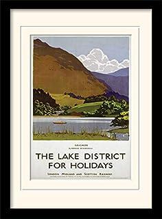 Framed 30 x 40cm Print 42 x 32 x 2.4 cm 1 MDF Multi-Colour National Railway Museum Yorkshire Dales