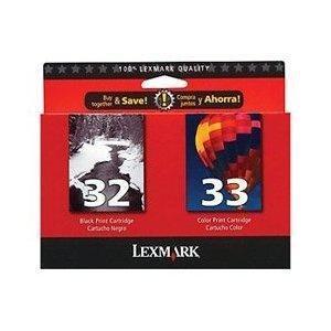 Lexmark International, Print Cartridge #32/#33 Twin P (Catalog Category: Printers- Inkjet/Dot Matrix / Inkjet Cartridges) (Lexmark In 32 33)
