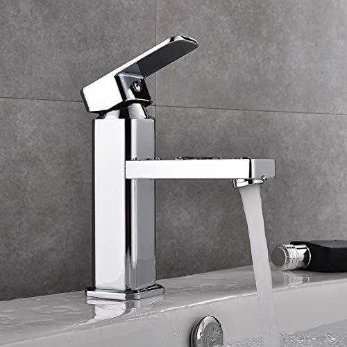 Commercial Modern Bathroom Faucet Single Handle Chrome Single Hole Washbasin Faucet With Deck Simple Installation Amazon Com