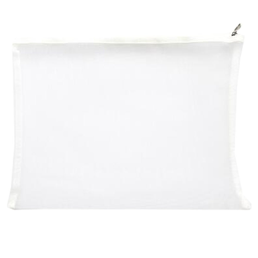 Cute File Bag Stationery Bag Pouch A4 File Envelope for Office/School Supplies, White