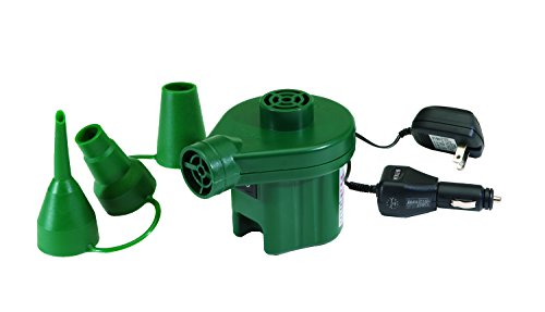 Texsport Electric Air Pump Inflates Deflates uses AC Power or 12 Volt Car Charger