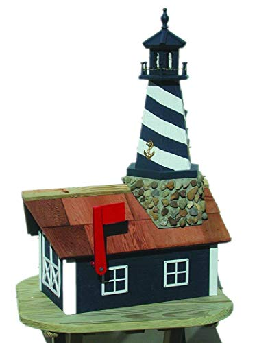 JMX Brands Inc Cape Hatteras Lighthouse Mailbox (Red and ()