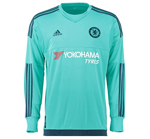 CHELSEA 2015/2016 Men's Goalkeeper Shirt, Green, S - Chelsea Keeper Jersey