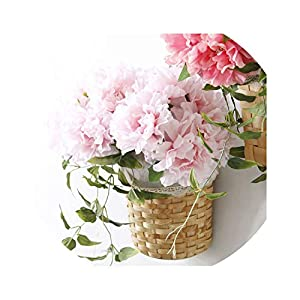5 Heads Peony Artificial Flowers Silk Hydrangea Bouquet Fake Peonies for Party Wedding Home Decoration Flower 101