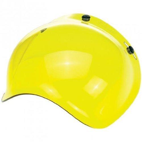 Biltwell Solid Bubble Shield (Yellow) 3-Snap