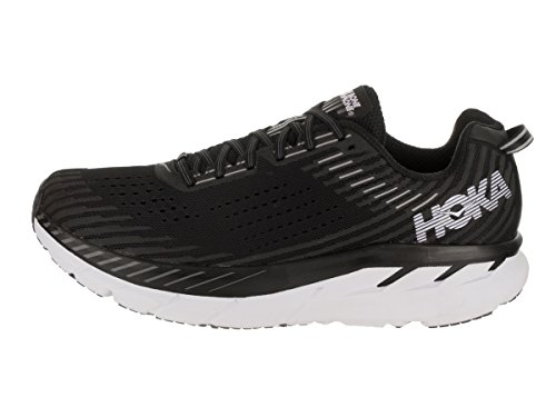 Clifton Hombre 5 Black Synthetic White Hoka Entrenadores One Textile One TqCItExAtw