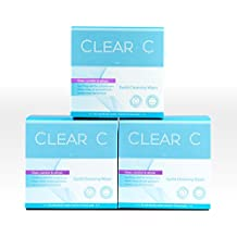 Clear C Premium No Rinse Non Irritating Eyelid Wipes 30count x 3 - Pre-moistened Pads for Dry Eyes, Red Eyes, Daily Use. 3 Boxes of 30 Individually Wrapped Wipes, Bulk Discount Combo
