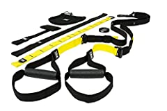 Train the entire body by combining variable-resistance bodyweight training and elements of instability with movement. The TRX PRO 3 Suspension Trainer is our strongest, most secure Suspension Trainer with durable, easy to clean rubber handles...