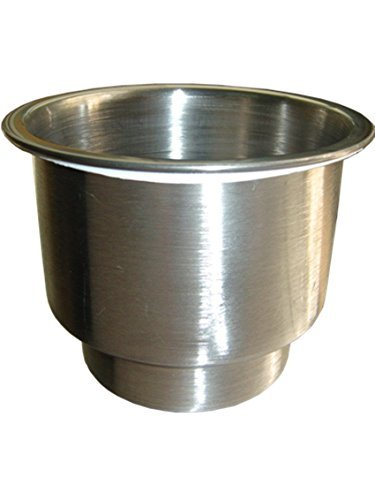 (Stainless Steel Cup Drink Holder with Drain Marine Boat Rv Camper,marine Grade,silver Tone,can Be Used in a Salt Water Invironment-1 Pack ,generic)