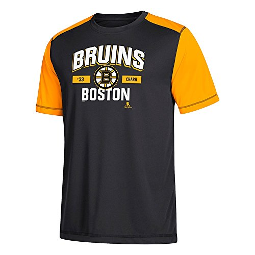 Bruins T-shirts - adidas Zdeno Chara NHL Boston Bruins Performance Player Graphic T-Shirt Men's