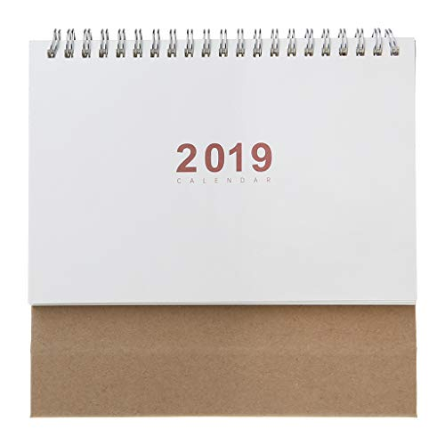 2019 Desktop Standing Coil Kraft Paper Calendar Memo Daily Schedule Table Planner Yearly Agenda Organizer by Sixsons