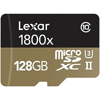 Lexar Professional 1800x microSDXC 128GB UHS-II W/USB 3.0 Reader Flash Memory Card - LSDMI128CRBNA1800R