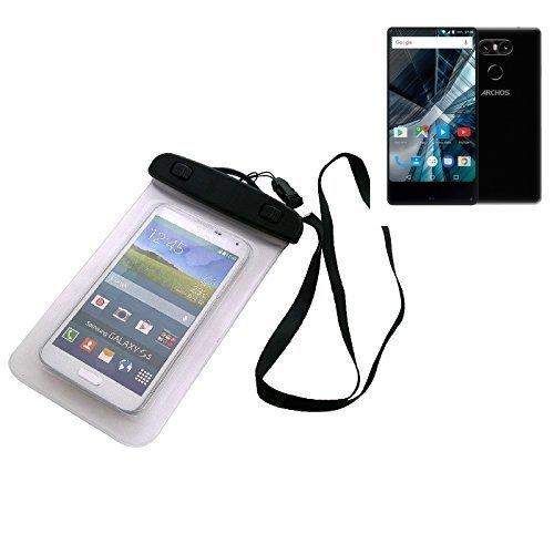 Custodia Cellulare Impermeabile Universale Pollici Waterproof Cover Case per Archos Sense 55 S. Universale Beach Bag / parapioggia / manto nevoso 16 centimetri x 10 centimetri - K-S-Trade(TM)