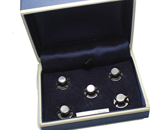 Mario Zegna Mother of Pearl Elegant Stud Set for Tuxedo for sale  Delivered anywhere in USA