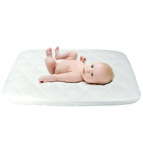 Cradle Mattress Protector Waterproof Fitted Quilted Baby Bedding Cradle Mattress Sheet Cover for Baby 20