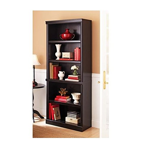 Ashwood Road 5-Shelf Bookcase by Better Homes and Gardens (Estate Black)