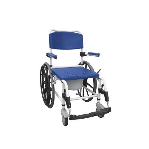 NRS185006 - Aluminum Shower Mobile Commode Transport Chair