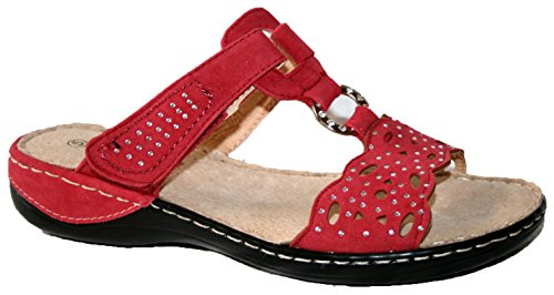 Cushion Walk - Sandalias de vestir de sintético para mujer Red Mule