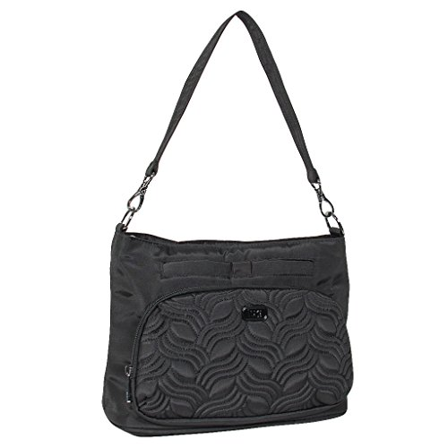 LUGAD Shoulder Bag, Brushed Black (Lug Purses Handbags)