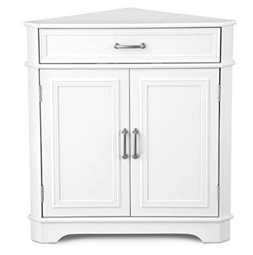 Deluxe Corner Cabinet (Creamy White)