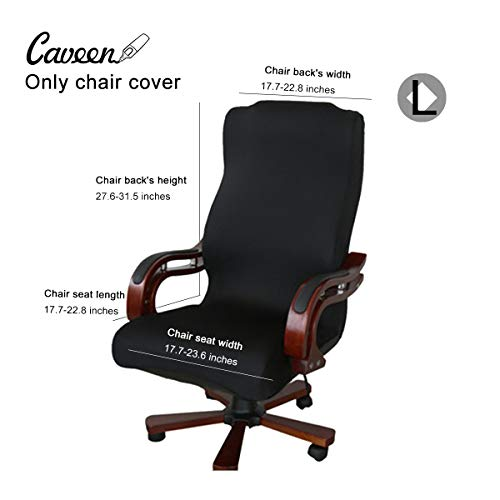 - CAVEEN Office Chair Cover Computer Chair Universal Boss Chair Cover Modern Simplism Style High Back Large Size (Chair not Included) Black Large