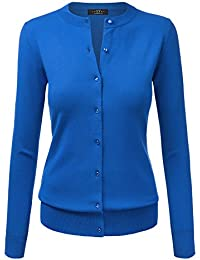 MBJ Womens Long Sleeve Button Down Classic Knit Cardigan...